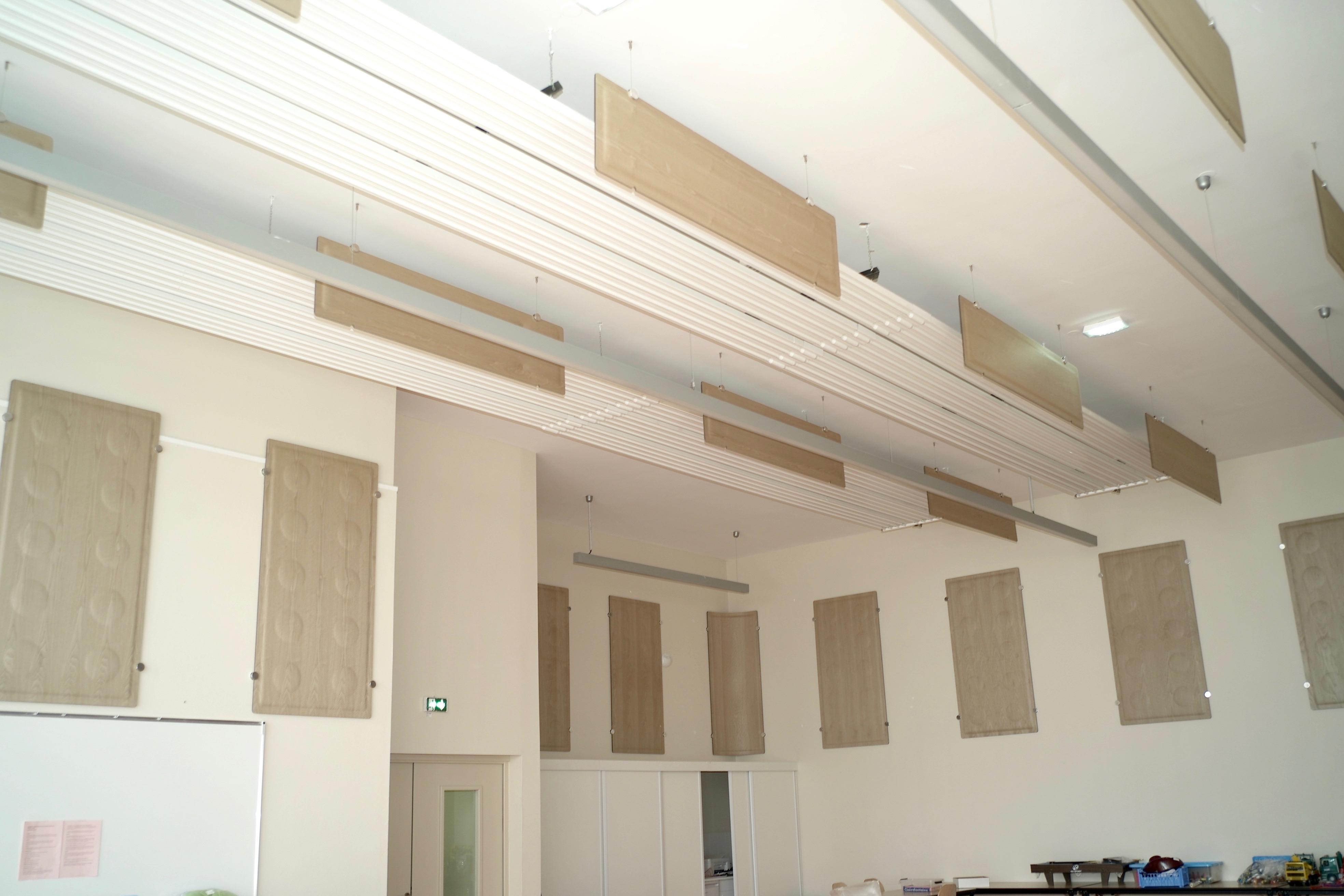 Traitement acoustique salle polyvalente Dommartin les Toul