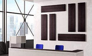 Panneau acoustique mural sur mesure dinition bois DP Acoustique