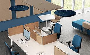 Cloisons acoustiques, panneaux de séparation et panneaux suspendus phoniques pour openspace
