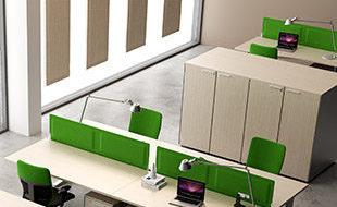 Baffle acoustique SOUND pour bureau - Revêtement tissu DP acoustique