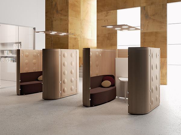 bureau indivuel avec isolation acoutique