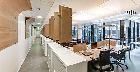 panneaux acoustiques et traitement acoustique dans des bureaux en openspace