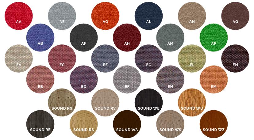 Toutes les couleurs des écrans et panneaux acoustique DP-Acoustique