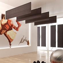Ecran acoustique mural BAFFLE dp acoustique amovible avec finition bois