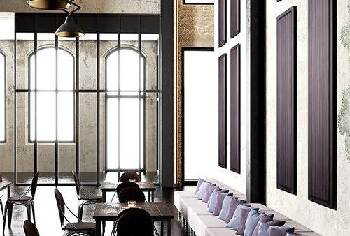 panneaux acoustiques muraux restaurant