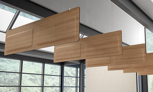 panneaux acoustiques suspendus finition bois ROOF DP acoustique