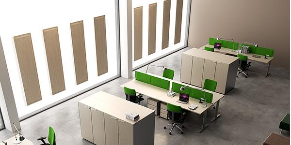 Panneaux acoustiques Glass pour open space DP Acoustique
