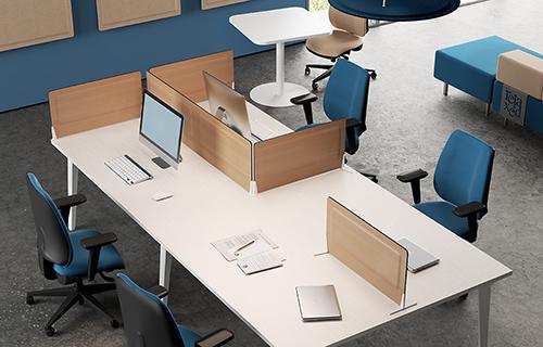 Ecran acoustique en bois pour bureau Desk System | DP Acoustique