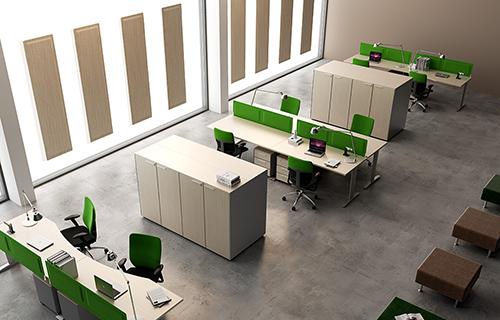 Cloisonnette pour bureau en tissu anti-feu Desk System | DP Acoustique