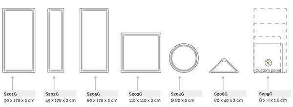 Panneaux Wall dimensions et références