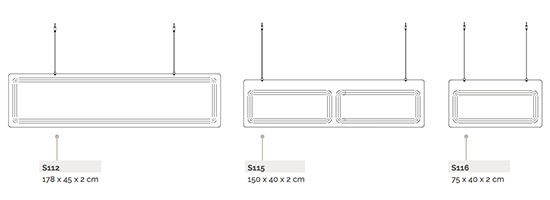 Panneaux acoustiques suspendus Baffle