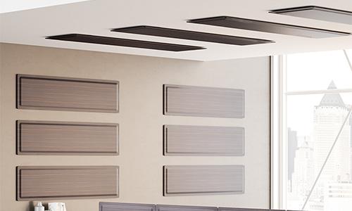 Panneaux acoustiques muraux Wall en tissu posés à l'horizontal