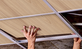 Dalles pour plafond acoustique Roof pour insonoriser une pièce