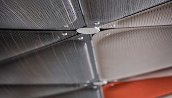 Attaches en acier pour fixation des panneaux acoustiques Sky System