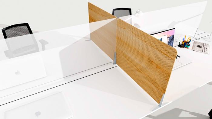 Fixation écran de séparation plexi pour open space DP Acoustique