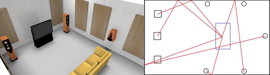 aménagement d'un home cinéma - traitement acoustique